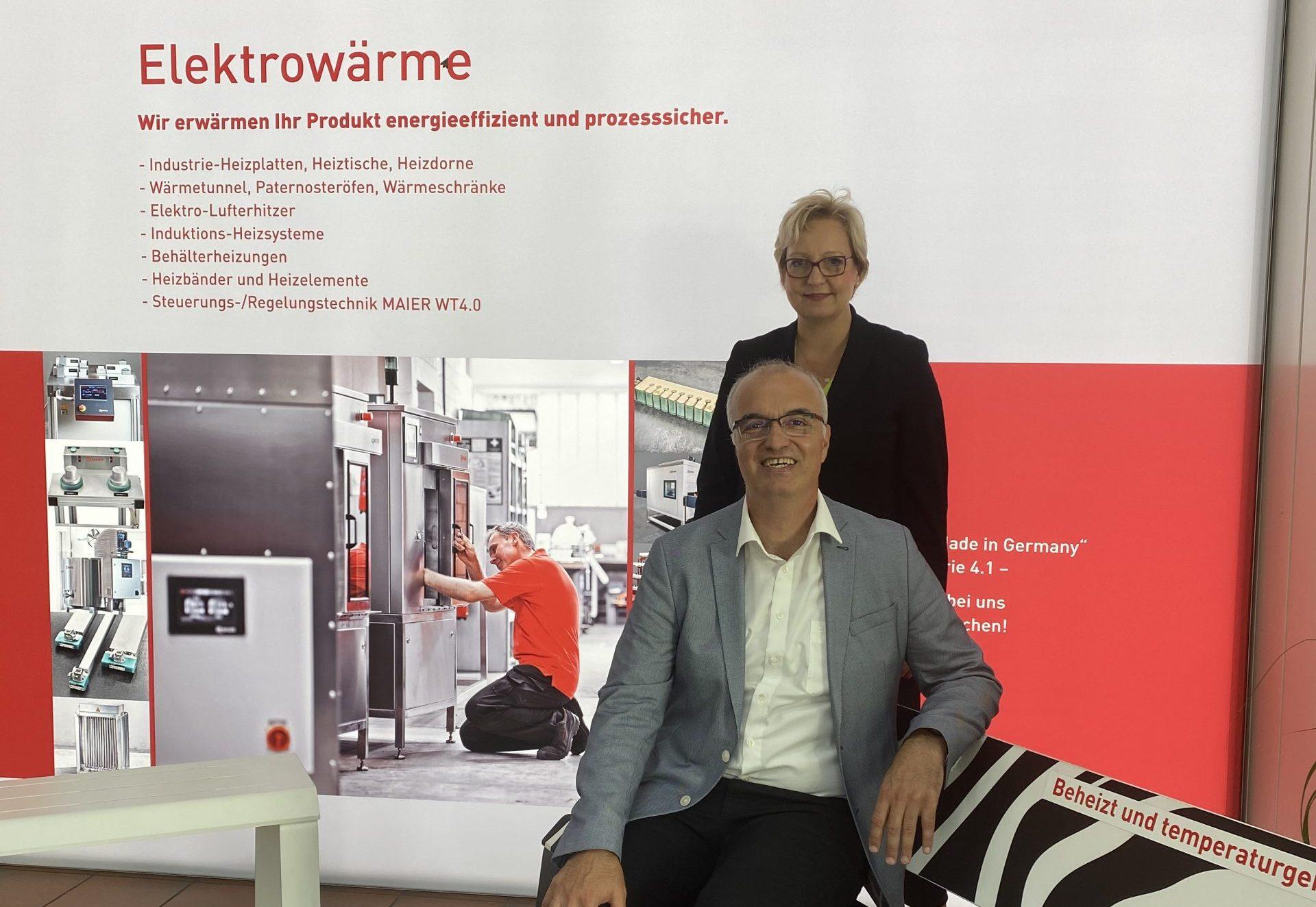 Ramazan Selcuk, Landtagsabgeordneter Baden-Württemberg und Kristin Maier-Müller, G. MAIER Elektrotechnik GmbH